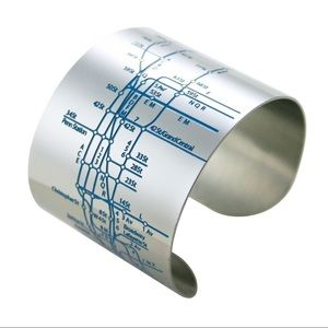 Unique NYC subway stainless steel cuff bracelet